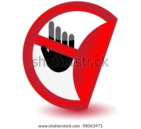 No entry sign sticker.Vector