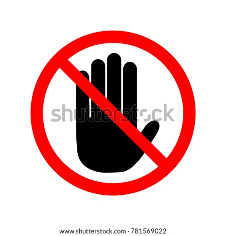No entry sign. Symbol, illustration