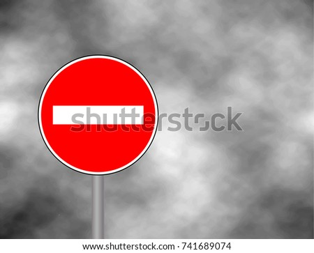 no entry traffic sign isolated