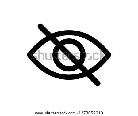 no eye vector icon