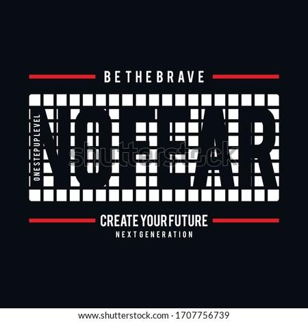 no fear stylish typography
