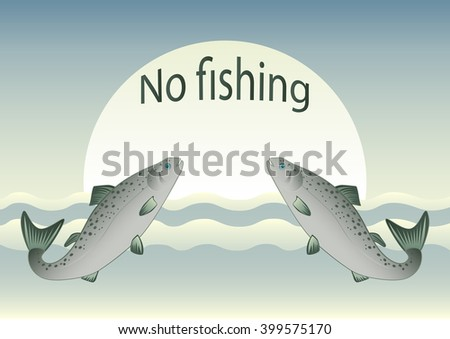 no fishing fish swimming to