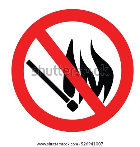no flame vector