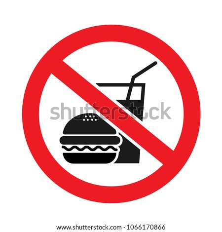 No food allowed symbol, isolated on white background
