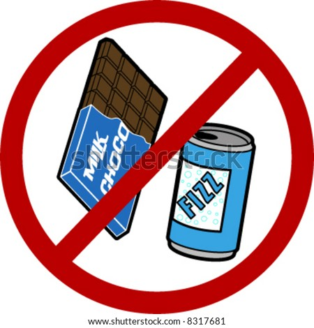 No Food/ Drink Sign Stock Vector Illustration 8317681 ...