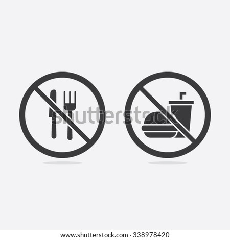 No Food or Beverages Vector Sign Illustration
