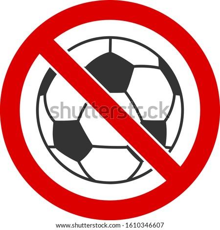 no football vector icon flat