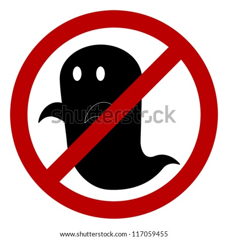 no ghost allowed sign  create