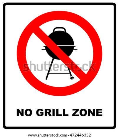 no grill zone symbol  no bbq