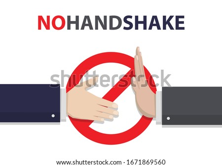 No handshake concept in a flat design. Business hands Vector illustration
