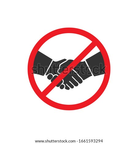 No handshake icon in a flat design. Vector illustration