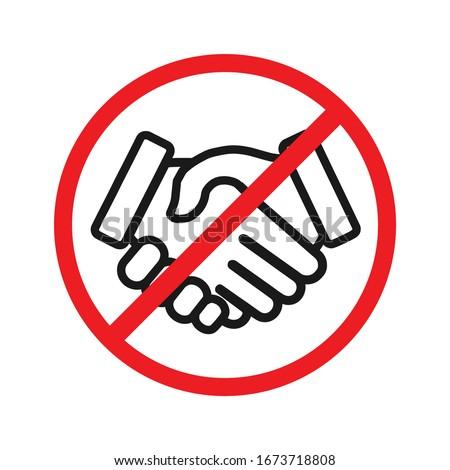 No handshake vector icon. Stop contact