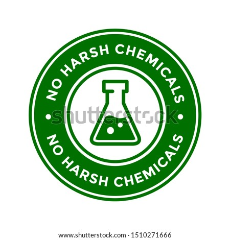 No Harsh Chemical logo or badge vector template. Suitable for product label
