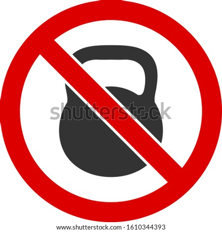 No heavy weight vector icon. Flat No heavy weight pictogram is isolated on a white background.