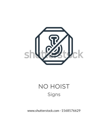 No hoist icon vector. Trendy flat no hoist icon from signs collection isolated on white background. Vector illustration can be used for web and mobile graphic design, logo, eps10