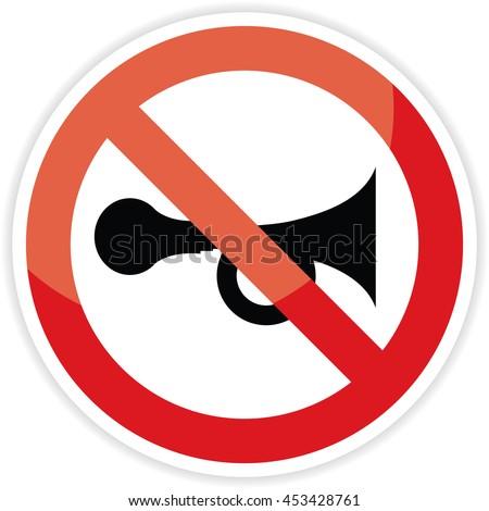 No horn sign on white background.vector illustration