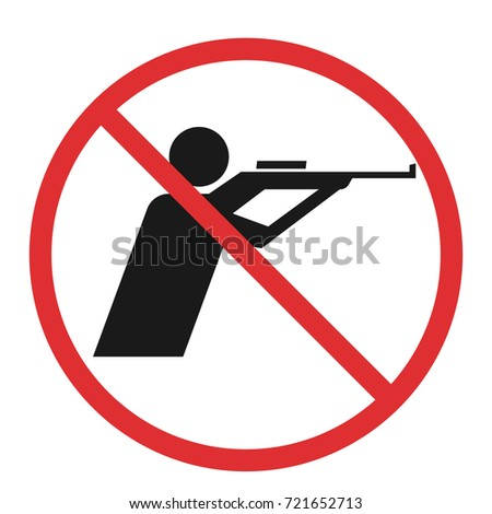 no hunting sign. Vector illustration isolated on white background