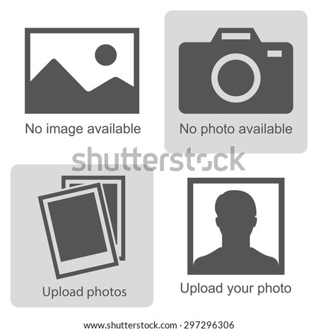 Shutterstock No image available or Picture coming soon. Set of pictures means that  no photo: blank picture, camera, photography icon and silhouette of a man. Missing image sign or uploading pictures. Vector.