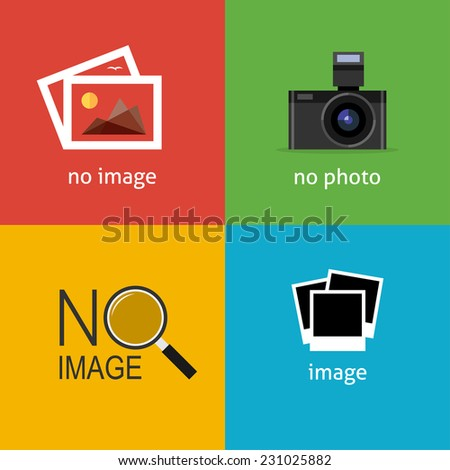 no image signs for web page