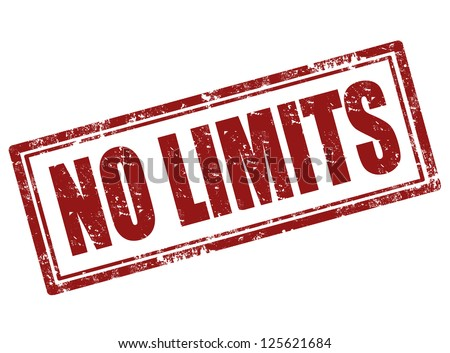 No limit grunge rubber stamp vector illustration
