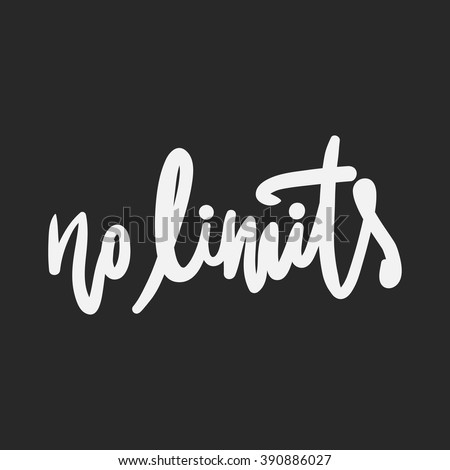 no limits hand lettering and