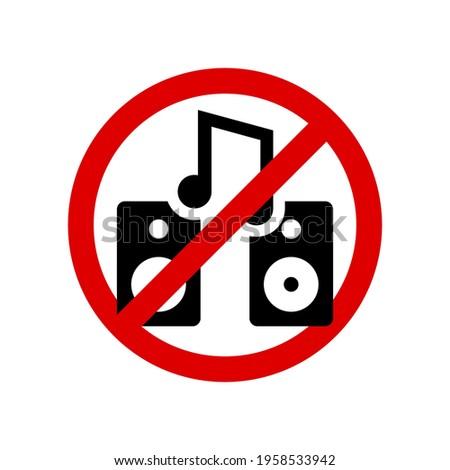 no loud music prohibition sign