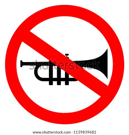 no loud sounds vector sign