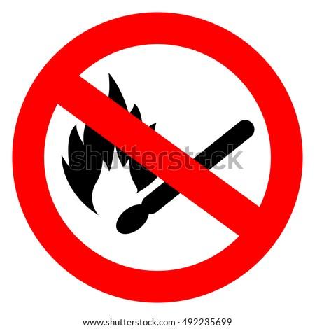 no match fire sign vector