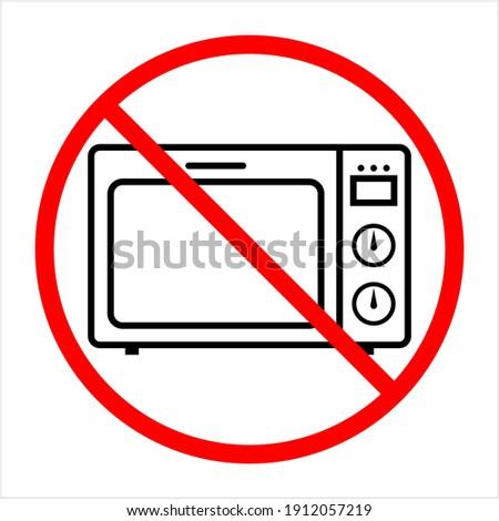 No Microwave Icon, Microwave Vector Art Illustration