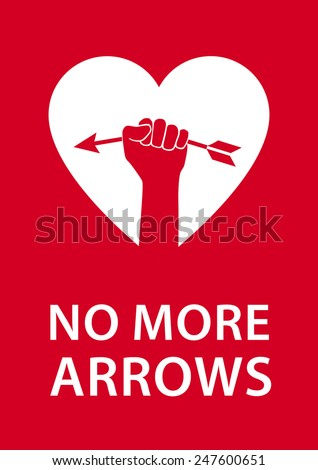 no more arrows humorous poster