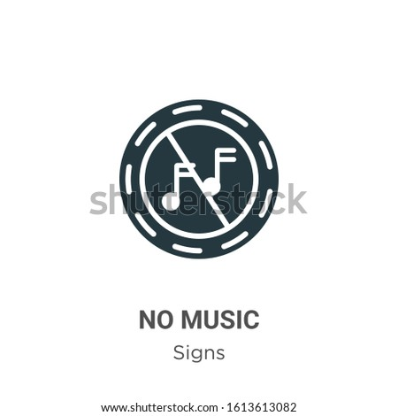 no music glyph icon vector on