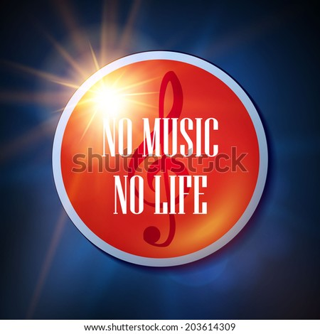 no music no life vector