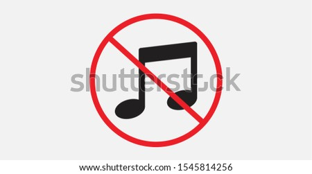 no music sign  not allow music