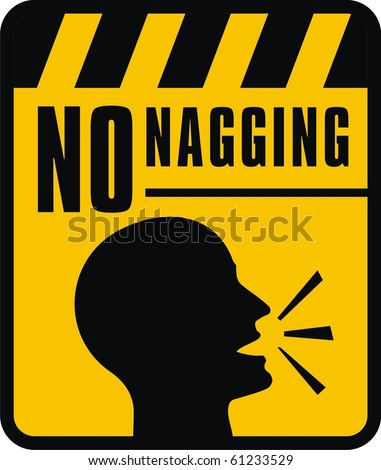 No nagging sign