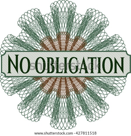 No obligation abstract linear rosette