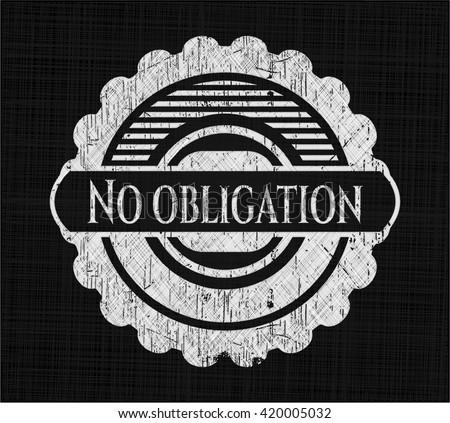 No obligation chalkboard emblem
