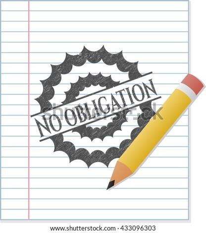 No obligation draw (pencil strokes)