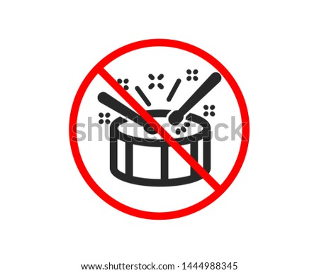 no or stop drums with