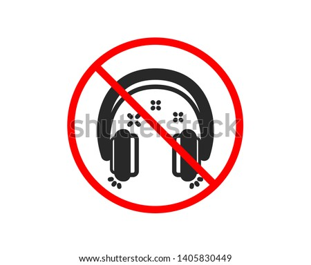 no or stop headphones icon