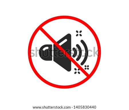 no or stop loud sound icon