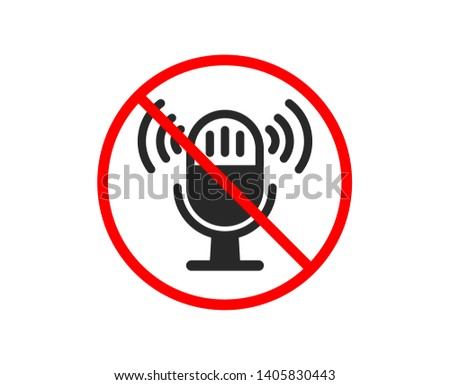 no or stop microphone icon