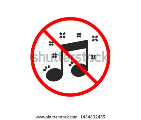 no or stop musical note icon