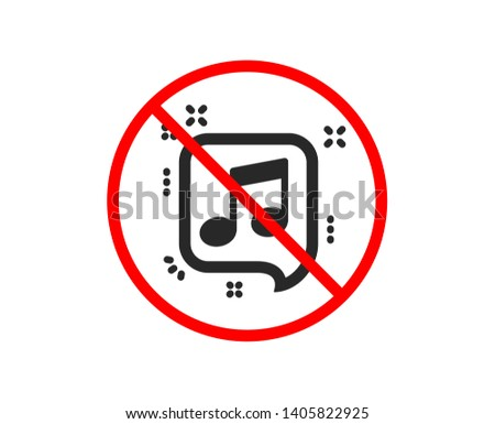 no or stop musical note in