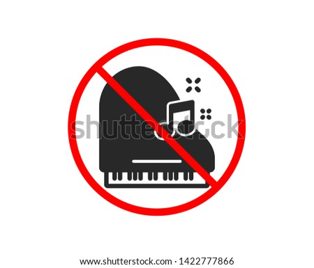 no or stop piano icon musical