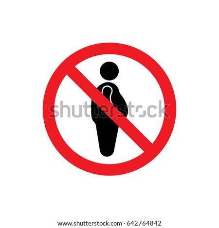 No Overweight icon illustration isolated vector sign symbol