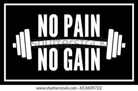 no pain no gain dumbbell  black