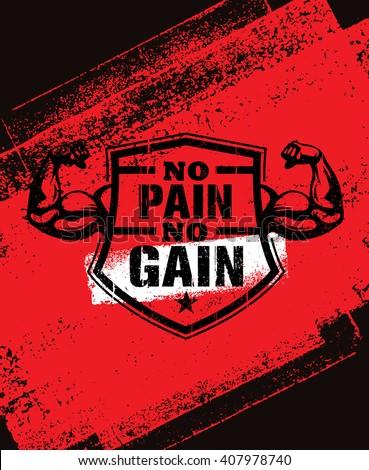 no pain no gain gym workout