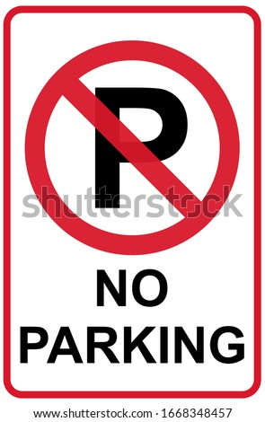 no parking icon graphic design