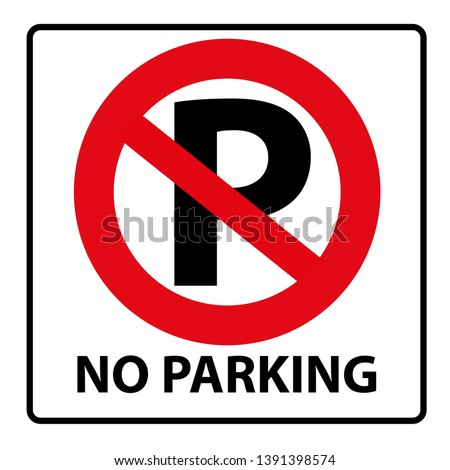 No parking or stopping sign, vector illustration