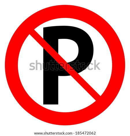 no parking sign icon on white